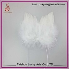 Lucky Arts Hot sale mini small white feather angel wings for decoration
