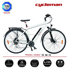 2015 ebike battery in frame,700C motor bike,36V10.4Ah samsung battery