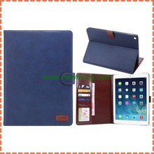 retro style leather case for ipad air2, pu leather cover case for ipad air 2, flip leather cover for iPad 6