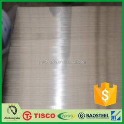 Hairline surface 316l 0.4mm stainless steel sheet price