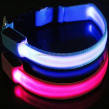 LED Pet Dog Collar Night Safety LED Light-up Flashing Glow In Dark Electric