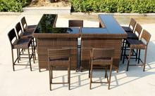 esterna del rattan bar tavolo sedia mobili set