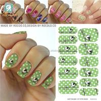 K5615B/Fashion beauty customs cute bird transfer printing nail polish strips decals