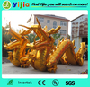 Giant golden inflatable dragon for events