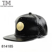 Leather Metal Baseball Cap Men & Women Hip-Hop Hats Adjustable