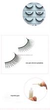 Top Quality Mellow Permanent Wispy False Eyelash Strip Fake Eyelashes with Black Cotton Stalk