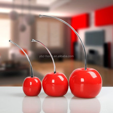 Dongguan decoration factory resin lightly apples for home decor