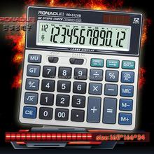 check & correct function calculator RD-512VB 12 digit dual power calculator Ronaduo desktop electronic calculator