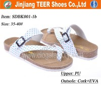 2015 new flat cork sole sandals shoes for men women