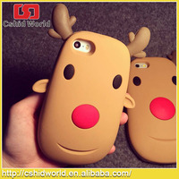 Christmas Elk Soft Silicon Rubber Phone Case Cover For iPhone 5 5s