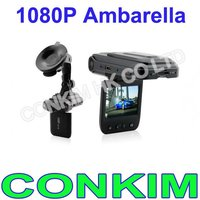 1080P Ambarella Digital Car Video Recorder 16 mega pixels With LED Light H8000