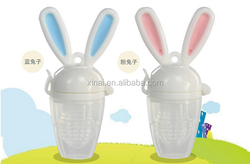 Rabbit Silicone baby teething feeder,Baby Weaning food soother and fruit pacifier feeder ,food feeder