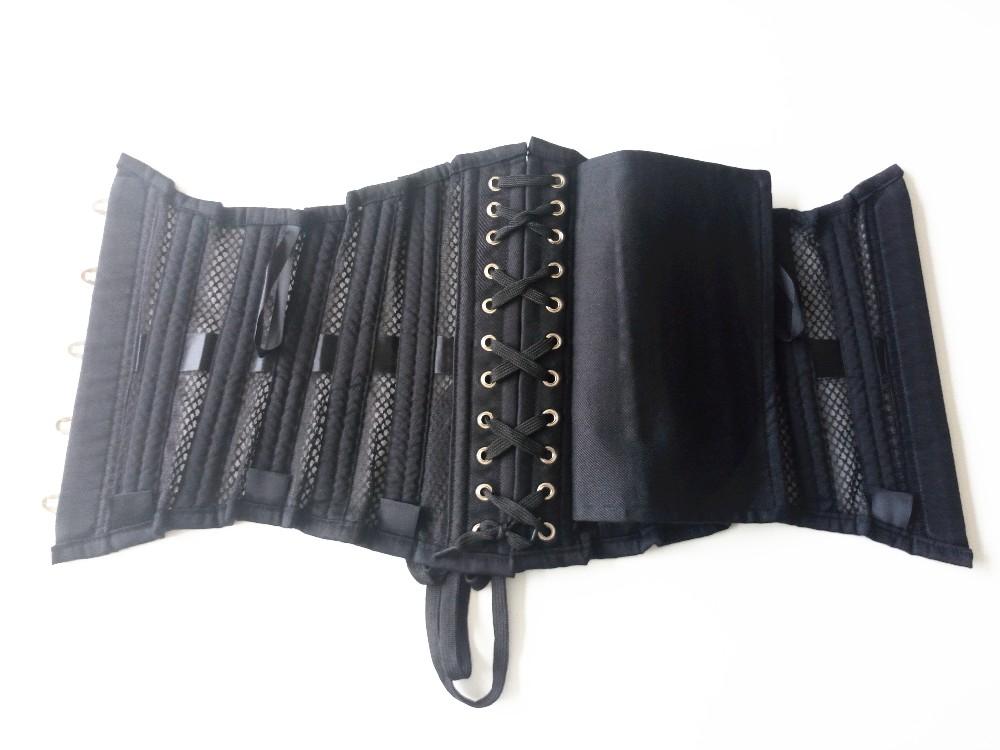 26 Steel Boned Transparent Mesh Cheap Waist Training Corsets 5