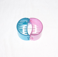 Small Colorful 6cm New Fine Plastic Hair Claw Clip, Shinny Jelly Color Hair Clip, Hair Claw for Thick Hair.