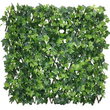 Artificial woden fence plastic leaves 1.2 m willow dog pallisade outdoor decoration