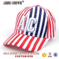 baseball cap stripe,cotton twill baseball cap with logo