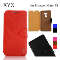 Customized logo smart mobile phone accessories leather case for huawei ascend mate 7 s