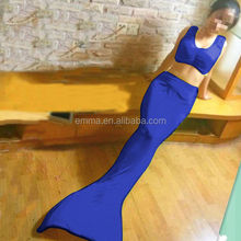 Adult royal blue mermaid dress fancy dress mermaid tail swimming BWG-2163