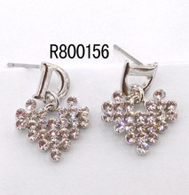 144 Manufacturer Supply zircon gold plated earrings