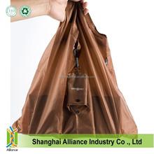 Custom Make Cheap Nylon Foldable Shopping Bag For Promotion,Reusable Folding Shopping Bag with Hook