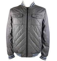 winter man pu leather jacket padded jacket coat for man mens slim fit zipper designed pu leather jacket for man coat 7717