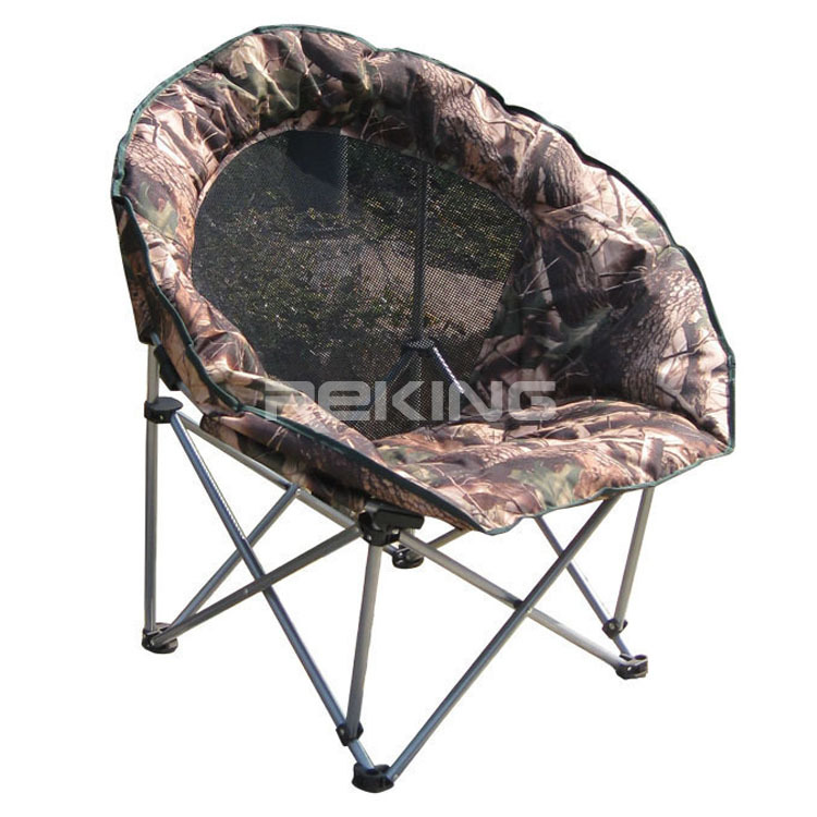 Camo Folding Moon Chair with Mesh Back View Camo Folding Moon Chair with Mes