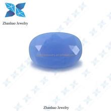Machine cut Oval shape Opal Blue Nano Gems