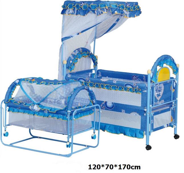 Seguro de la cama cuna cama de bebé para los gemelos de metal ...