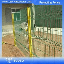 SUOBO Fence Vinyl Hog Wire Fence Panels Wire Mesh Dog Fence