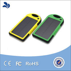 2016 Newest Shenzhen Factory selling products Waterproof Solar Power Bank 5000mAh Solar Mobile Phone