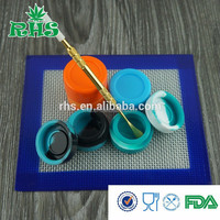 Large capacity silicone storage containers for wax or oil, big silicone non stick jar