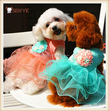 Pet Products New Design High Quality Fashion Pet Clothes Cheap Pretty Dog Wedding Dress