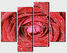 flower canvas printing,stretched canvas,rose flower oil painting on canvas