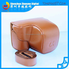 2015 Hotsale Promotional Retro Leather Camera case Bag for Sony A6000 With Short Lens