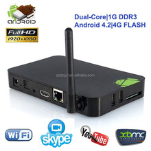 Hot sale! Best quad core android TV box with 1080P output and WIFI