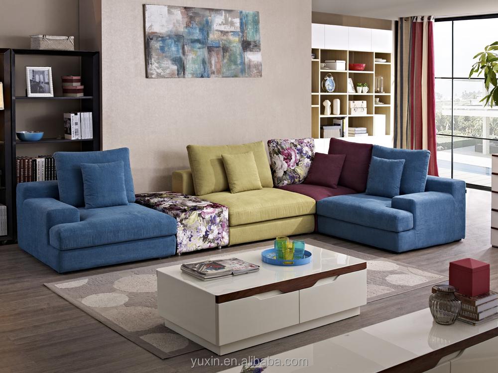 Nueva llegada living modernos muebles de madera/sofá de esquina de ...