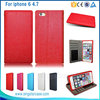 High Quality Mobile Accessory Card Holder Leather Flip Case for iPhone 6