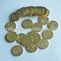 brass board game token