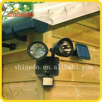 New design 22 led solar garden wall sensor security light