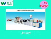 NANJING SKYWIN 200-500KG/H 2-5MM PVC PLASTIC SHEET EXTRUSION LINE