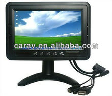 Customized Cheap 7 Inch TFT LCD Flip Down Roof Mount TV Car/Bus Monitor