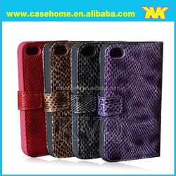 snake grain case for iphone4s, with stand, magnet ear, Waterproof, Anti-knock, Dirt-resistant function