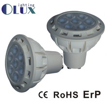 China Supplier Energy saving bulbs Gu10 led Aluminum+Plastic housing LED GU10 , Warm white 7W GU10 ,110v gu10 led lights