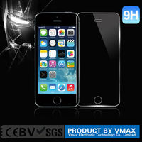FactorySupply Clear 2.5D Oleophobic Lyophobic Mobile Phone/Cell phone LCD 9H tempered glass screen protector for iphone 5 5c 5s