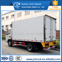 Hot and Famous Dongfeng mini refrigerated van wholesale price