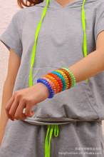 China wholesale fashion multicolor elastic hair bands for women and girls