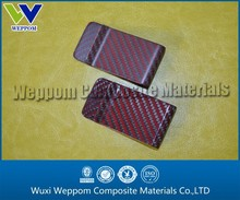 Matte and Glossy finish Red Carbon Fiber Money Clip
