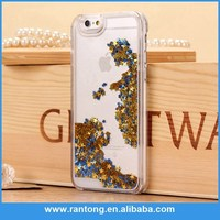 New glitter flowing liquid star case for iphone 5 5s