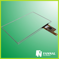 2015 global sale glass+glass capacitive industrial touch screen digitizer glass panel