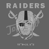 Silver Glitter Raiders for Rhinestone Iron On Transfer for Football Jerseys